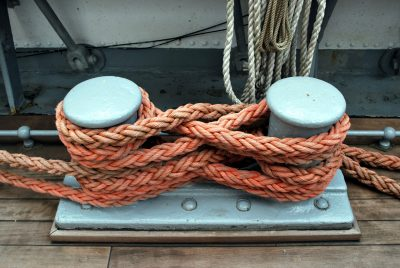 a rope on a boat
